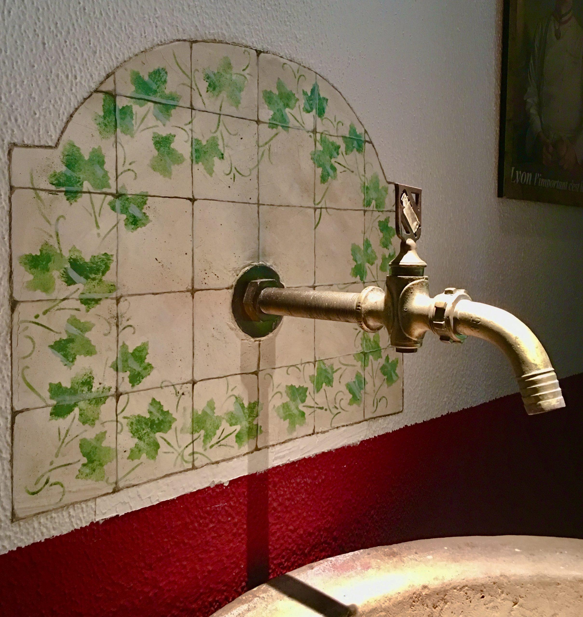 Pila detalle falsos azulejos