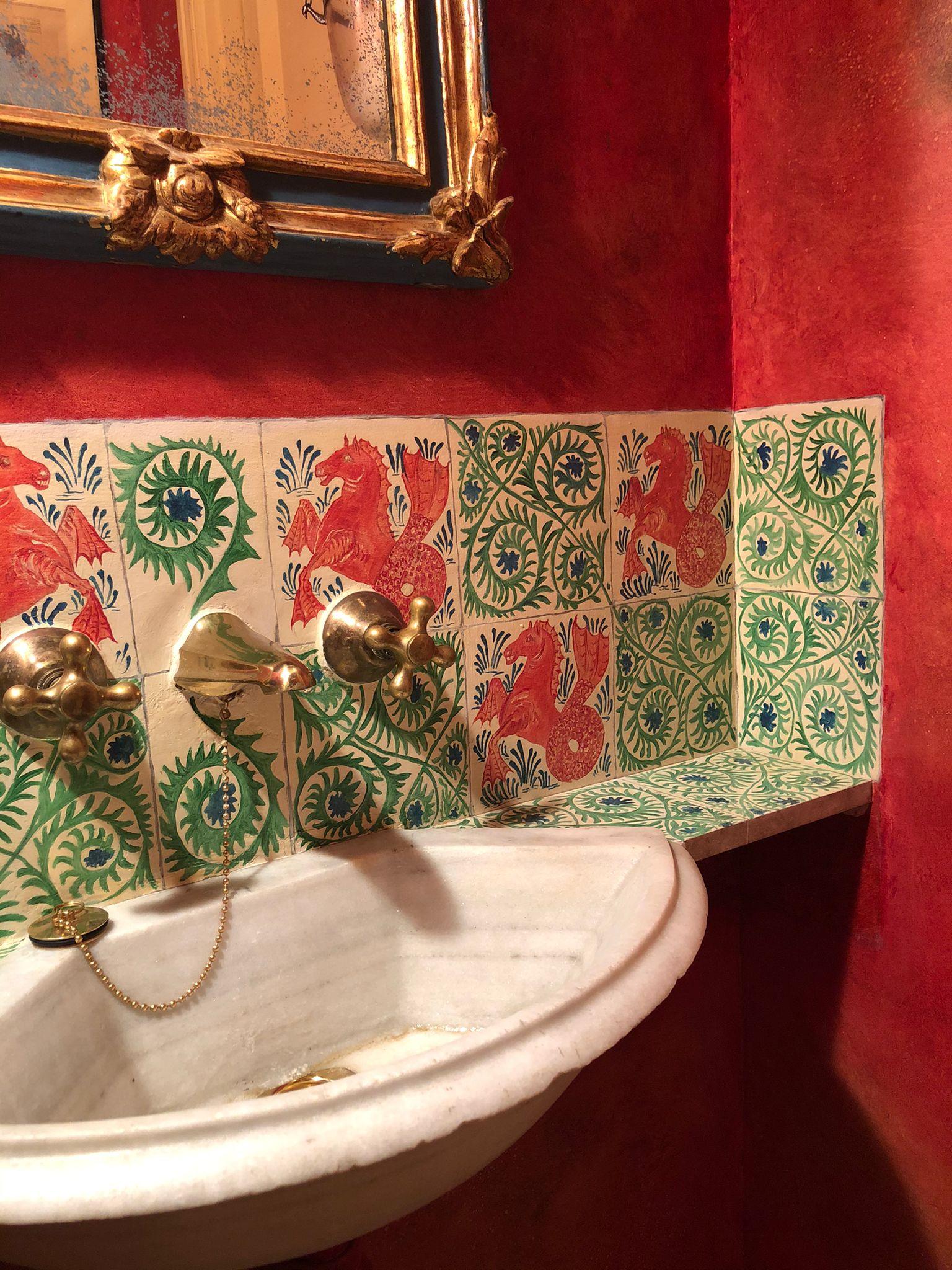 Falsos azulejos estilo William Morris